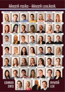 Ryhmä Lexin ehdokasasettelu vuoden 2013 edarivaaleissa. Löytyykö sinun kuvasi ensi syksynä tästä? ;)