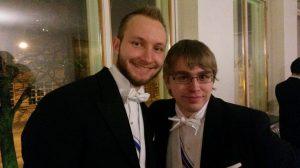 Mikko ja Ville edustamassa TYYn vuosijuhlissa 15.11.2014.